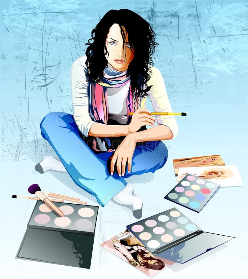 Jeune artiste illustration libre de droits
