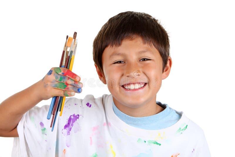 Jeune artiste de garçon photo libre de droits