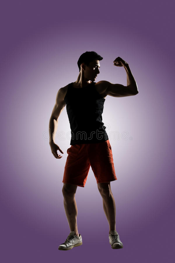 Jeune athlète masculin photographie stock