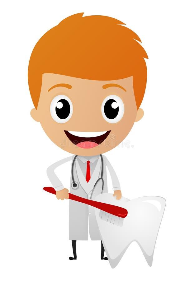 Jeune bande dessinée de dentiste illustration de vecteur