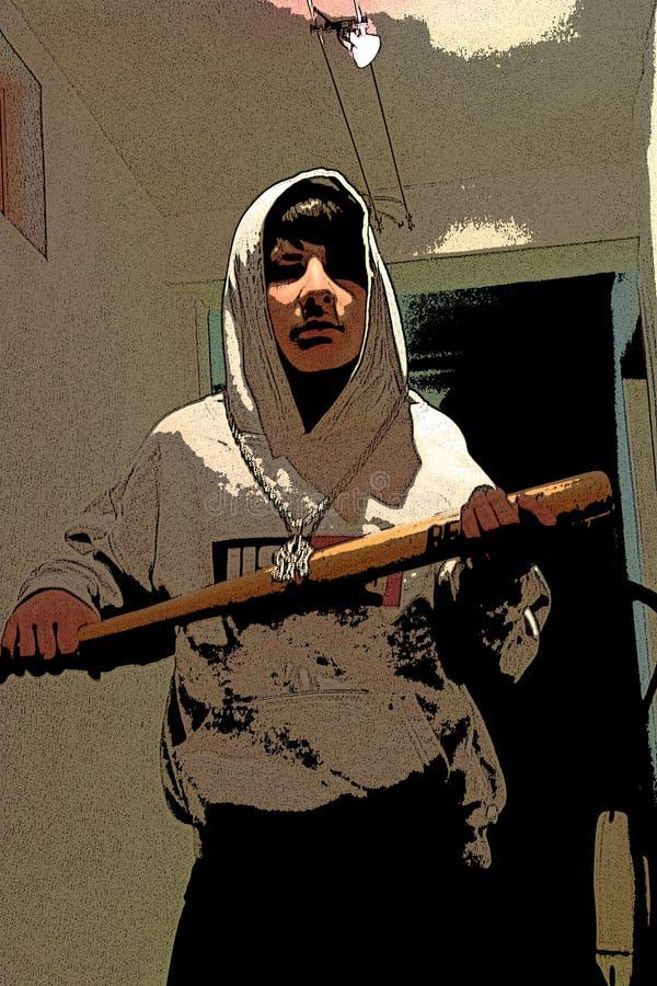 Jeune bandit illustration stock