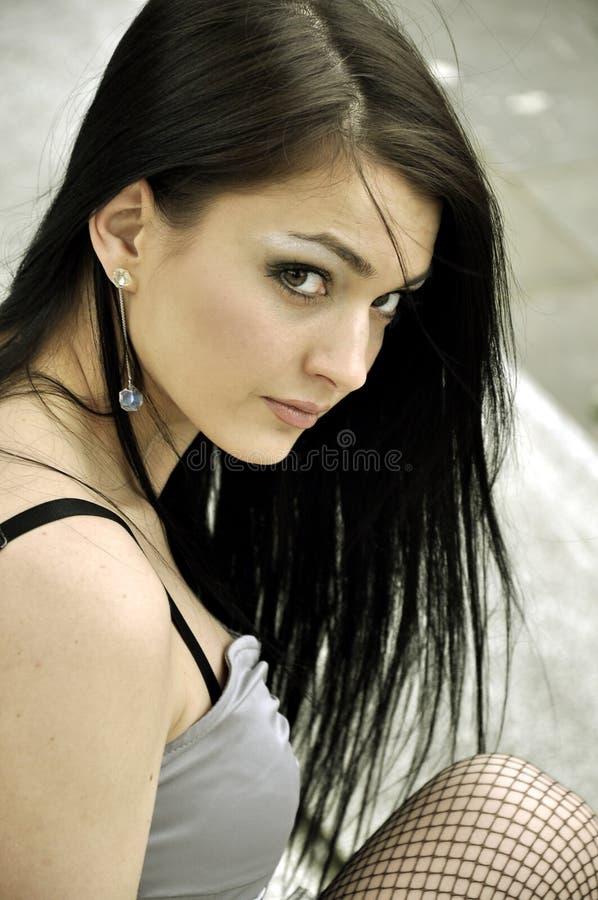 Jeune beau brunette photographie stock