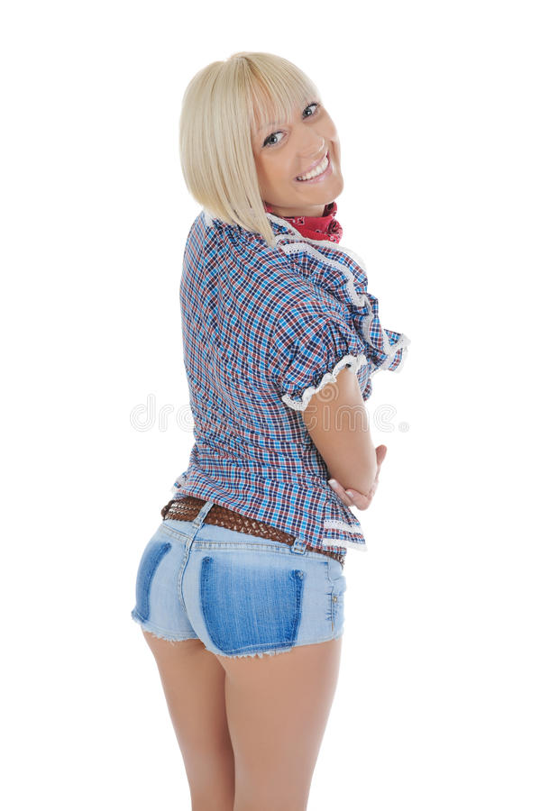 Jeune belle cow-girl images stock