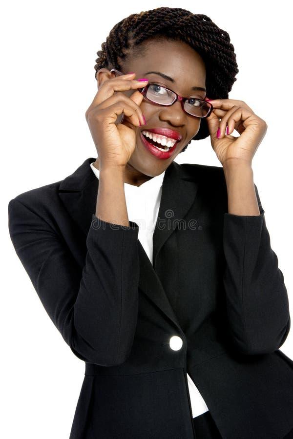 Jeune, belle et dynamique femme africaine d'affaires photos stock