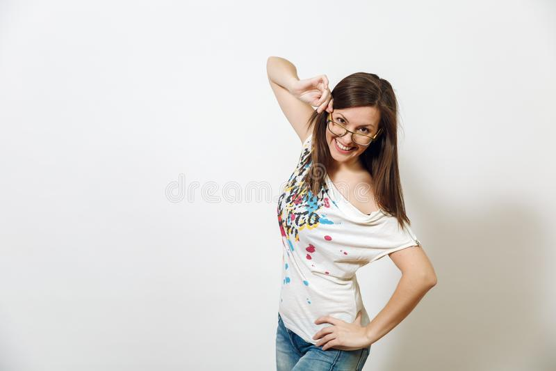 Jeune belle femme Portrait de studio photos libres de droits