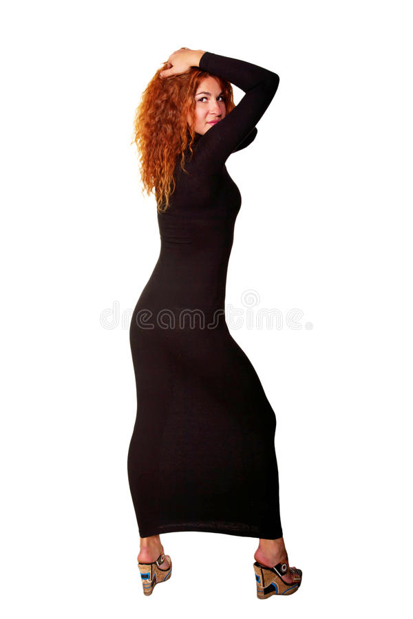 Jeune belle femme red-haired images stock