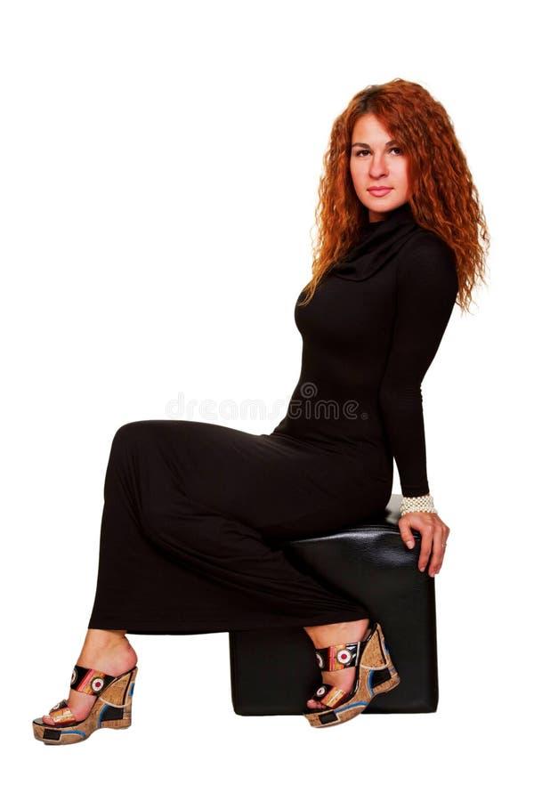 Jeune belle femme red-haired photos libres de droits