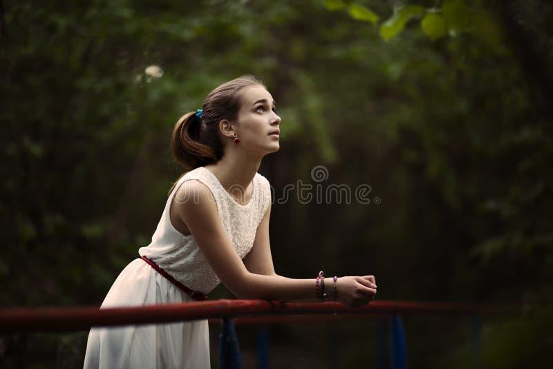 Jeune belle fille avec de longs cheveux photographie stock libre de droits