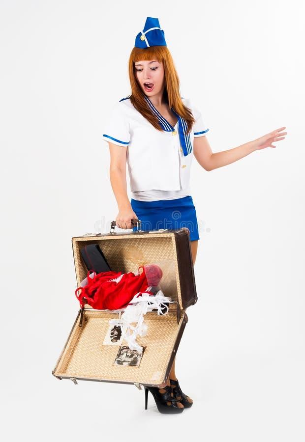 jeune belle h tesse de l 39 air photo stock image du personne dame 31577686. Black Bedroom Furniture Sets. Home Design Ideas