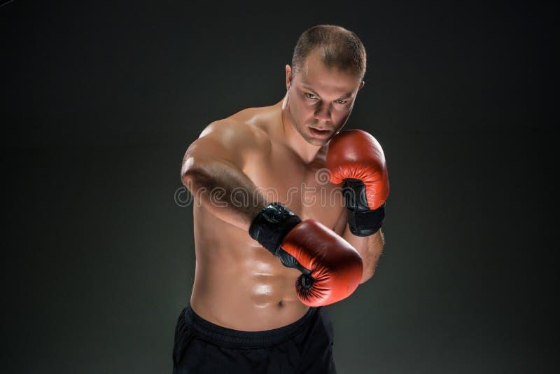 Jeune boxe de boxeur image stock