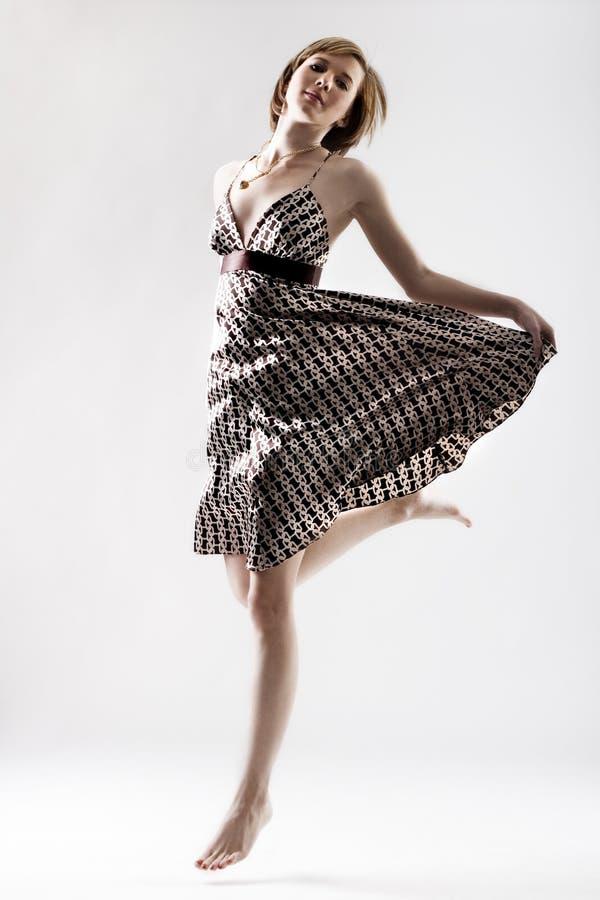 Jeune brancher mince de danseur images libres de droits