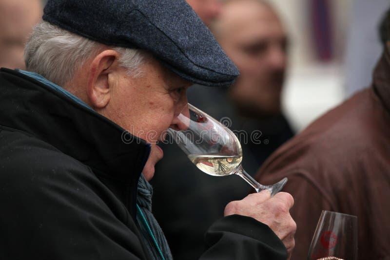 Jeune célébration de vin au saint Martin Day à Prague photographie stock libre de droits