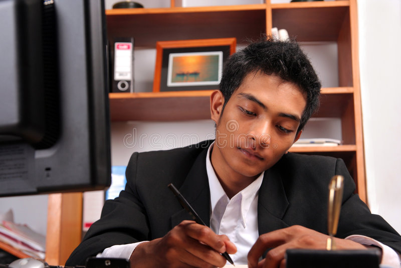 Download Jeune cadre d'affaires photo stock. Image du sensation - 8653702