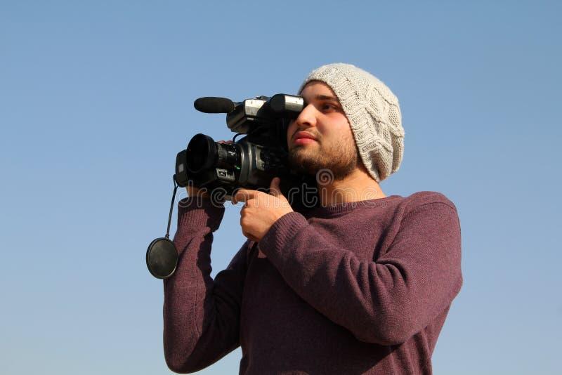Jeune cameraman photo libre de droits