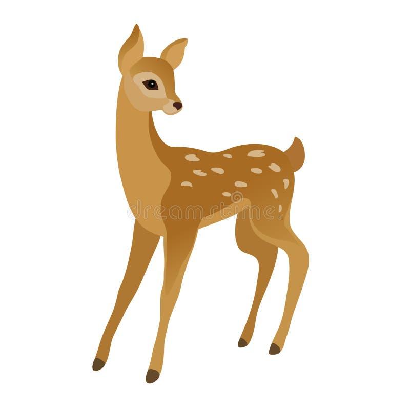 Jeune cerf mou illustration de vecteur