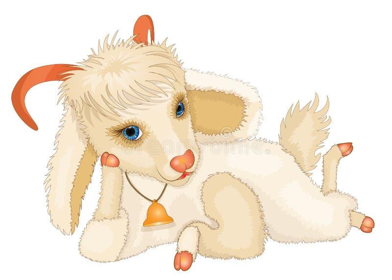 Jeune chèvre mignonne de bande dessinée illustration libre de droits