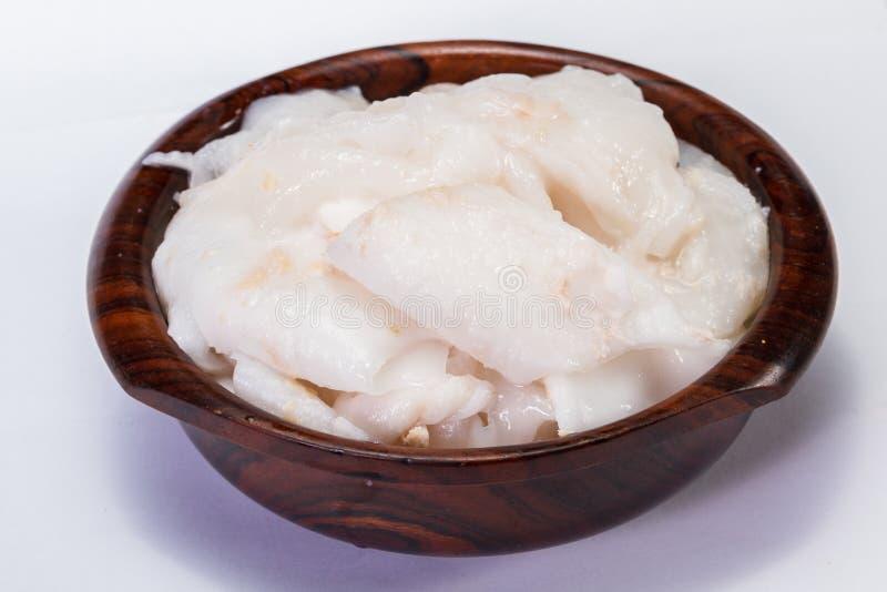 Jeune chair de noix de coco fraîche photographie stock