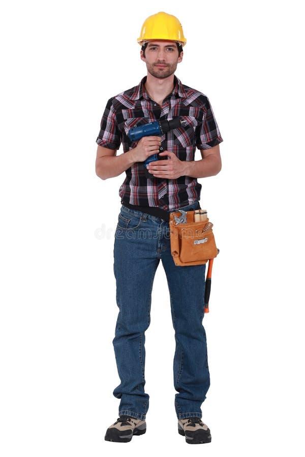 Jeune charpentier image stock