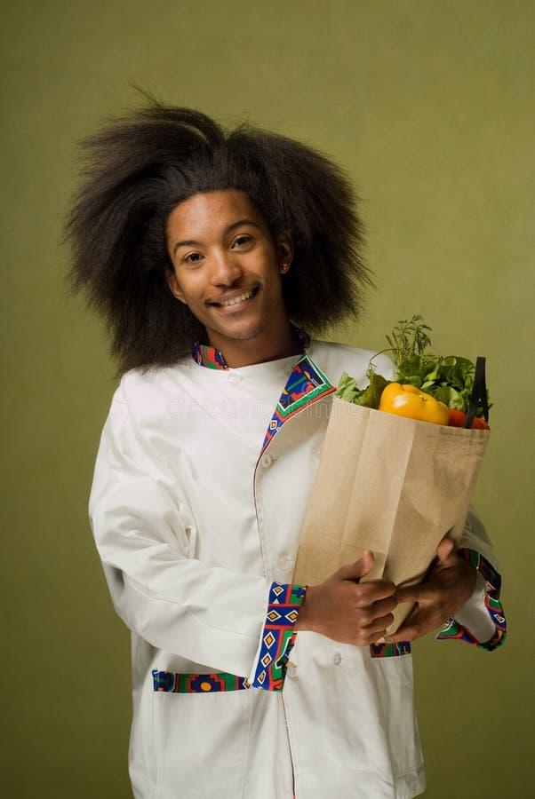 Jeune chef d'Afro-américain photos stock