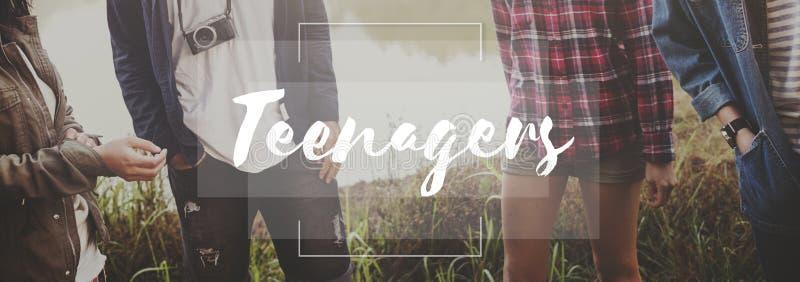 Jeune concept de mode de vie de génération de la jeunesse d'adolescents photographie stock libre de droits