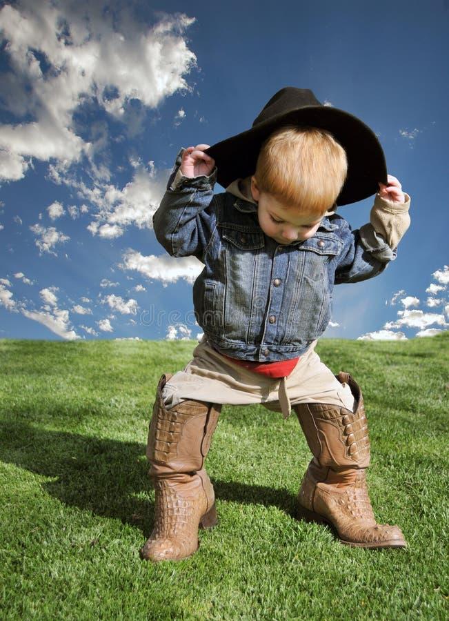 Jeune cowboy photo libre de droits
