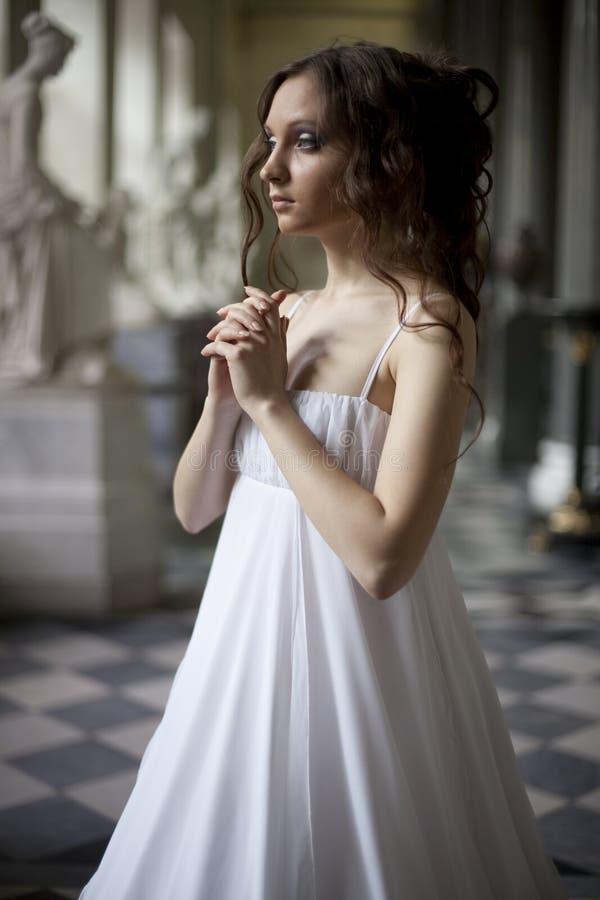 Jeune dame de victorian photographie stock