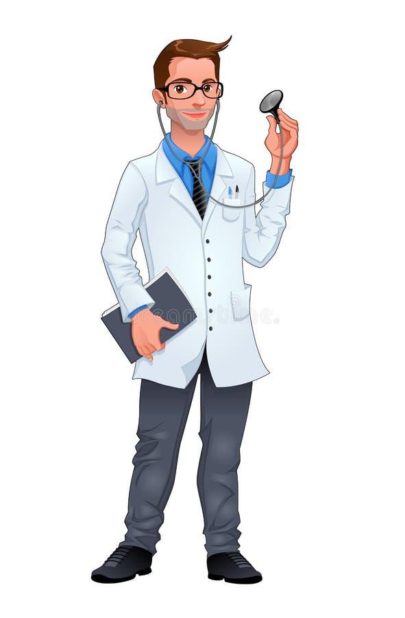 Jeune docteur illustration de vecteur