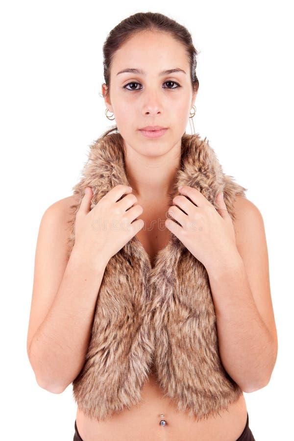 Jeune et belle verticale de femme images stock