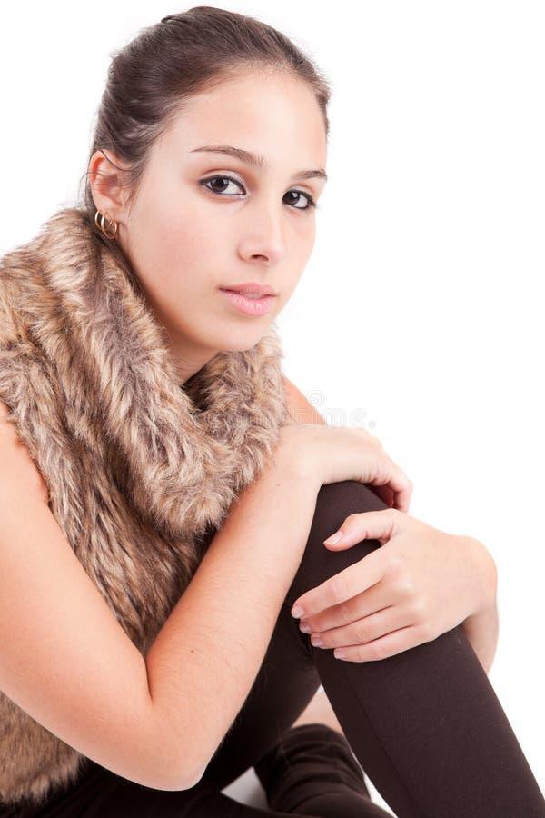 Jeune et belle verticale de femme photographie stock libre de droits
