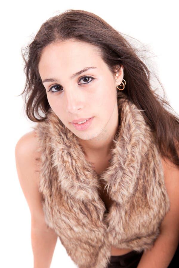 Jeune et belle verticale de femme photo libre de droits