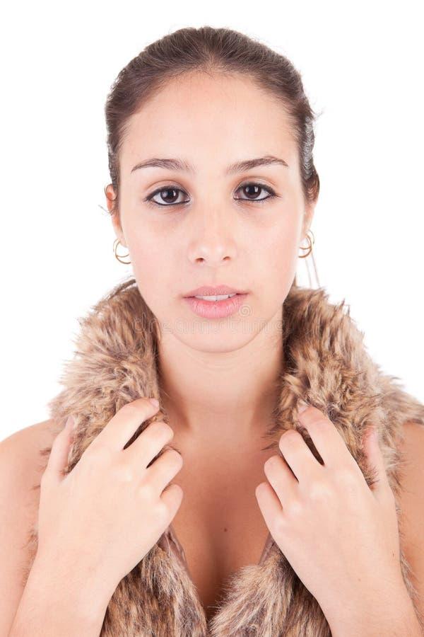 Jeune et belle verticale de femme image libre de droits