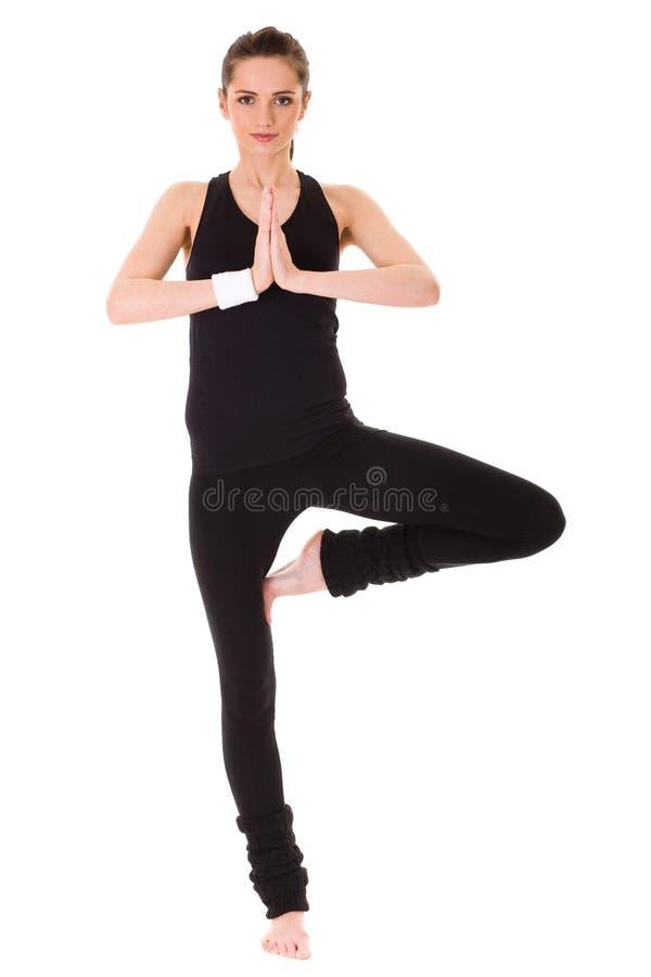 Jeune exercice femelle attrayant, d'isolement photo stock