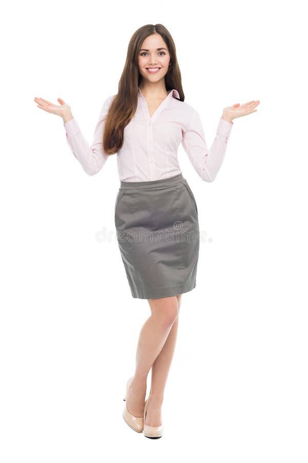 Jeune faire des gestes de femme d'affaires photo libre de droits