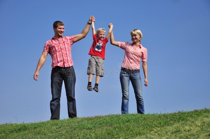 Jeune famille photos stock