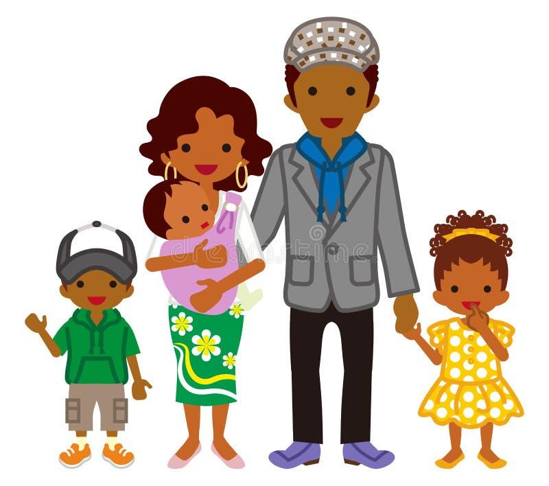 Jeune famille - appartenance ethnique africaine illustration de vecteur