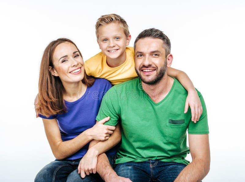 Jeune famille ayant l'amusement images stock