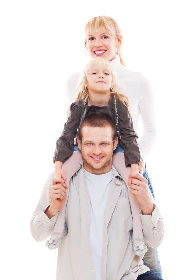 Jeune famille ensemble image libre de droits