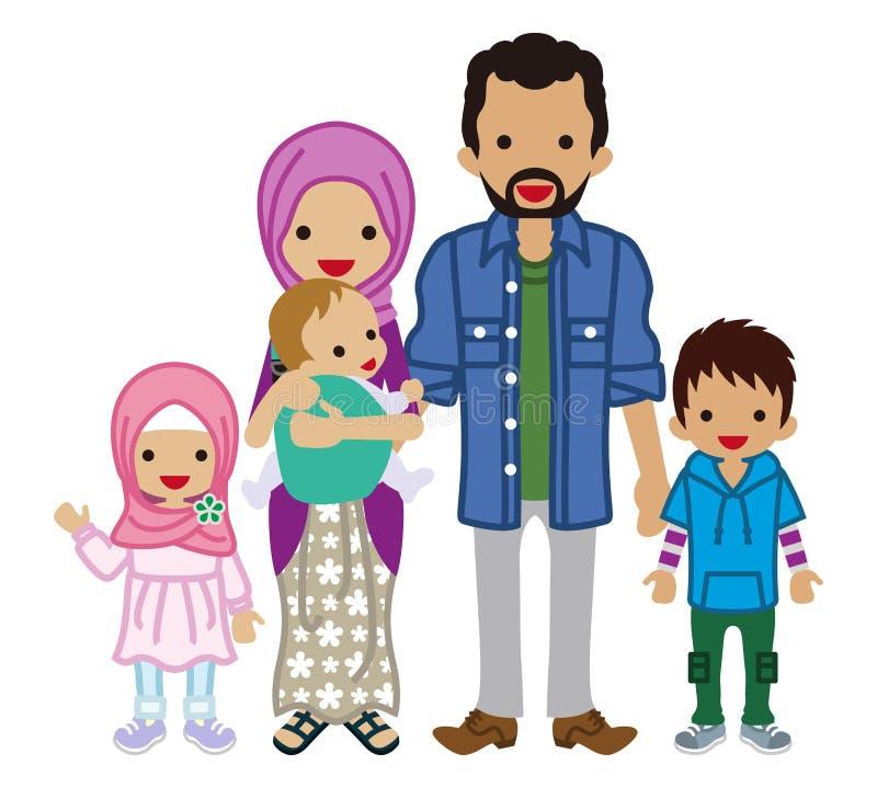 Jeune famille - musulman illustration libre de droits