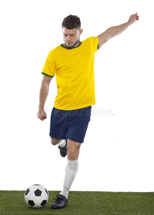 Jeune fan de foot photo libre de droits