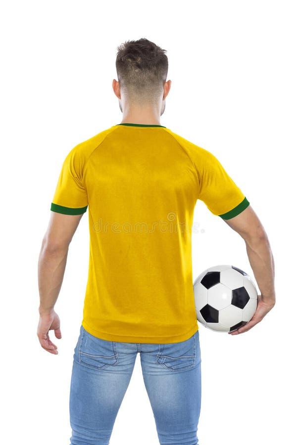 Jeune fan de foot photographie stock libre de droits