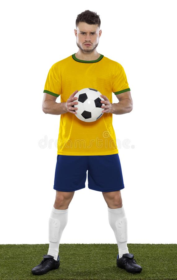 Jeune fan de foot images libres de droits