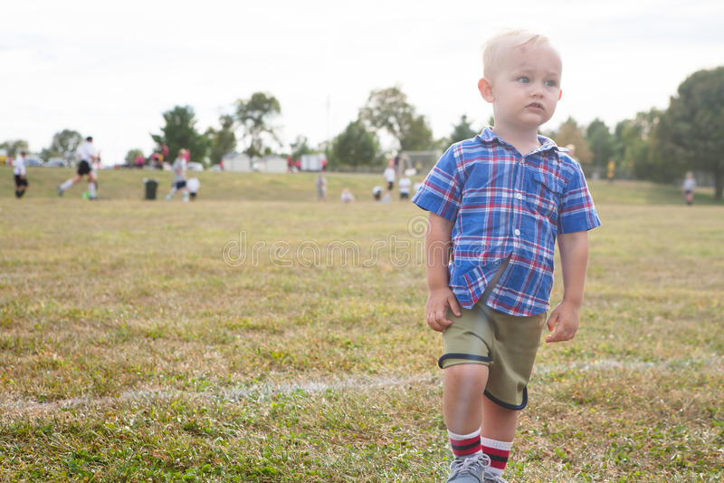 Jeune fan de foot photo stock