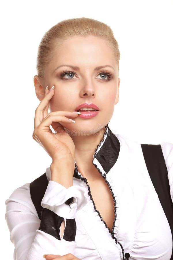 Jeune femme à la mode photo stock