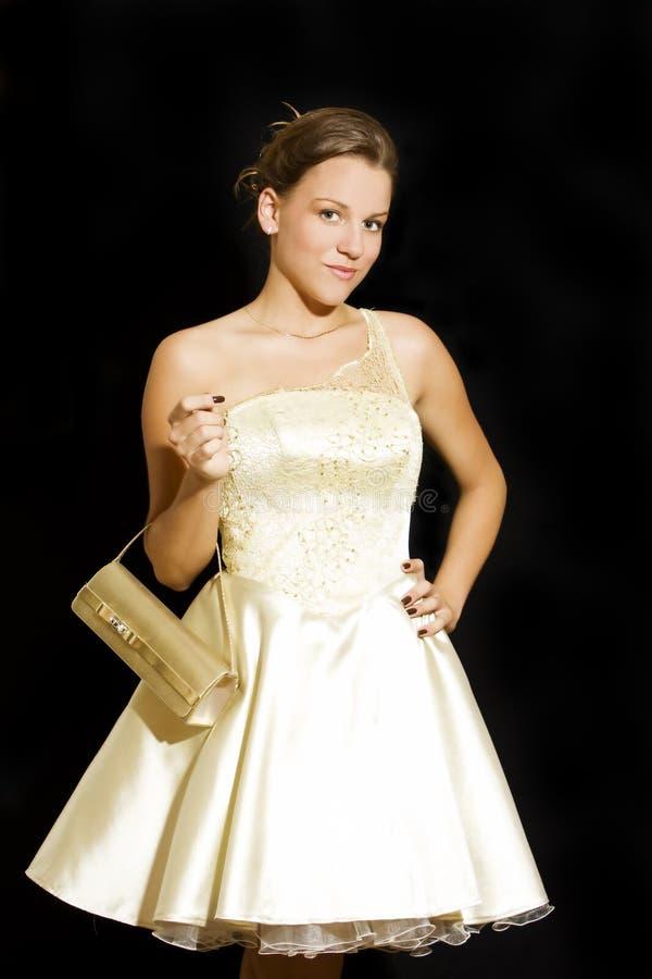 Jeune femme élégante de mode image stock