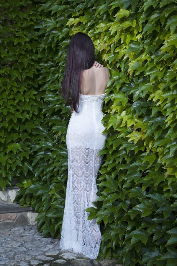 Jeune femme émouvante avec dénudé de retour photo libre de droits