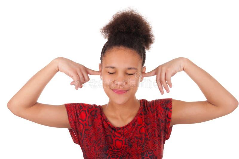 Jeune femme afro-américaine avec les cheveux Afro photos stock