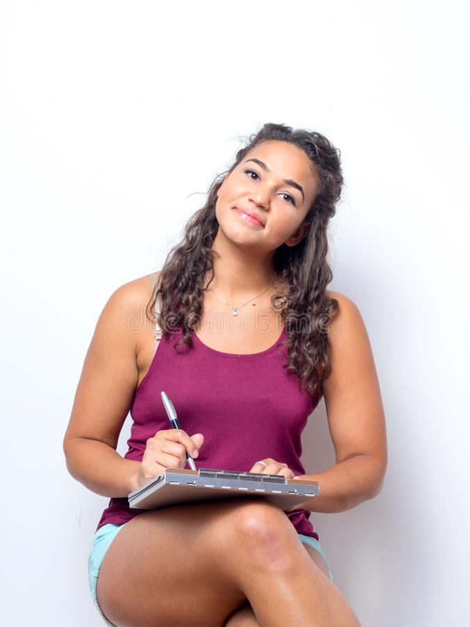 Jeune femme américaine avec de belles configurations photo libre de droits