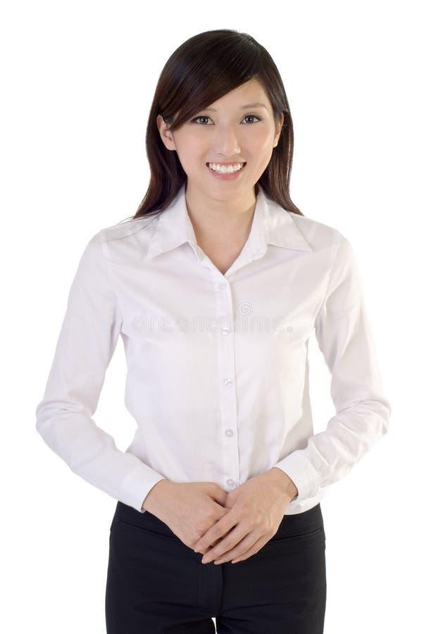 Jeune femme amicale d'affaires photo libre de droits