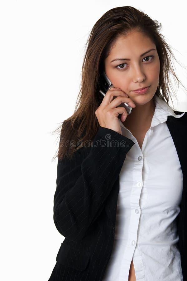 Jeune femme au téléphone images libres de droits
