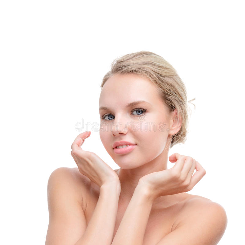 Jeune femme avec la peau parfaite image stock